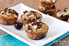 Dark Chocolate Cherry Muffins (gluten/grain/dairy-free)