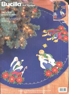 When I started looking for a few nativity Christmas tree skirts for you to enjoy, I was astounded and delighted at the variety and quality of the tree skirts there are to enjoy.   Below you'll find some photos of this nativity Christmas tree skirts...