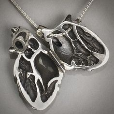 Silver Anatomical Heart Locket | 19 Gorgeous Pieces Of Jewelry Inspired By Human Anatomy