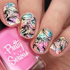 Nail Polish Society: Paint All The Nails Presents Neon - stamping nail art using Bundle Monster