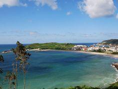 Espasante, port and beach.  A Coruña, Galicia, Spain.