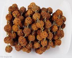 3 Feet Natural Rudraksha Seed Beads 5-6mm Round Making Jewelry Buddhist Bead #luctsa