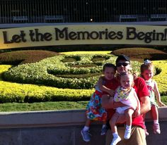 Lilly ,Emma and Abbie  with Daddy at Disney World