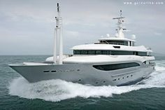 CRN's GiVi Mega-yacht - High life on the high seas is the promise of Italian yacht builder CRN S.p.A's latest (2008) naval accomplishment – the luxurious, powerful and technologically unparalleled GiV.