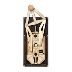Bring an Art Deco-inspired finishing touch with this toggle light switch.