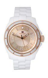 Tommy Hilfiger Kelsey Bronze Dial White Plastic Ladies Watch 1781200 * You can get more details by clicking on the image.
