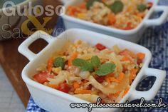 #BomDia! Esta Salada de Couve Flor Refrescante que além de ser super refrescante, é sozinha uma nutritiva, super saborosa refeição leve!  #Receita aqui: http://www.gulosoesaudavel.com.br/2016/03/14/salada-couve-flor-refrescante/