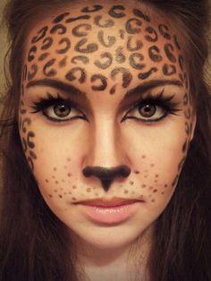 Cheetah facepaint