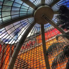 Best spot to enjoy a Vegas thunderstorm. #AtriumLife by themiragelv