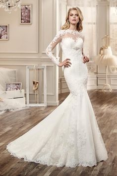 2016 Long Sleeve Lace Wedding Dresses With Bateau Collar Open Back Applique Beads Chapel Train Wedding Gowns Custom Made Gown Wedding Dresses Party Wedding Dress From Liuliu8899, $227.86  Dhgate.Com