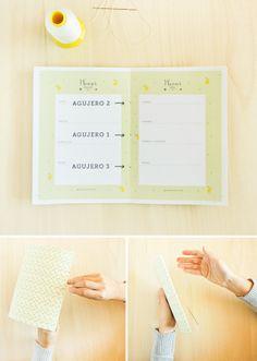 os traigo un blog planner imprimible y un tutorial para encuadernar una agenda de una forma fácil, sencilla y rápida.