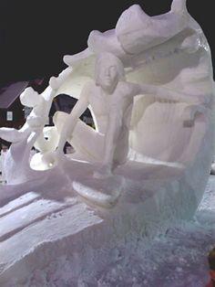 Surfing Surfer Sculpture Statue