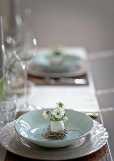 table de repas herbes vertes