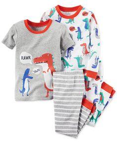 Carter's Baby Boys' 4-Pc. Dinosaur Pajamas Set
