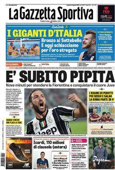 Prima Pagina La Gazzetta dello Sport 21/08/2016