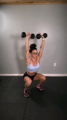 Home Exercise Routines, At Home Workouts, Workout Routines, Arm Exercise Challenges, Home Exercises, Toning Workouts, Dumbbell Workout, Compound Exercises, Fitness Workout For Women