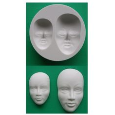 "<p><span style=""font-size: small;"">Use this flexible silicone faces mould, which includes large and small faces, when creating models using a variety of different mediums.<br /></span></p>"