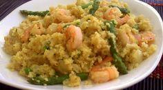 Creamy Shrimp & Asparagus Quinoa Risotto