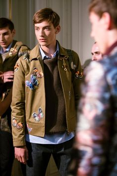 Butterfly appliques at Valentino SS15, Paris menswear. More images here: http://www.dazeddigital.com/fashion/article/20524/1/valentino-ss15