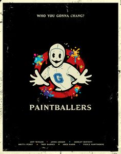 Paintballers - Graphic Design Poster - Another! Community Memes, Community Tv Show, Community Art, Community College, Comedy Tv Shows, Graphic Design Posters, Funny Relatable Memes, Thing 1, Favorite Tv Shows