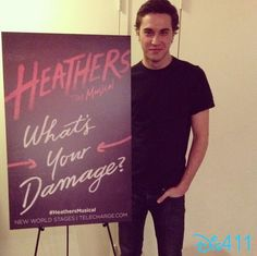 Ryan McCartan in Heathers: The Musical, I can't believe I went to high school with this guy!! he is soo amazing and I love the movie the musical is going to be amazing!!!