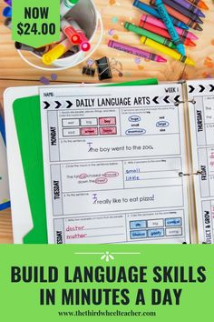 This Daily Language and Grammar pack is perfect for your second grade students. Ideal for morning work or as a warm-up. It can be hard to find teaching tools and curriculum for teaching grammar to your kids, but these language and grammar activities will have your students learning parts of speech, editing and revising sentences, spelling, prefixes and suffixes, and more! Common core aligned and includes 36 weeks of practice and keys.  Grammar Activities, Teaching Grammar, Teaching Reading, Teaching Tools, Student Learning, Classroom Activities, Classroom Ideas, 2nd Grade Writing, 2nd Grade Teacher