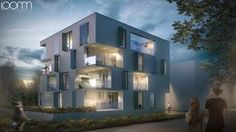 zwei b Architektur - Nagold - Mehrfamilienhaus Riedbrunnen Architecture Visualisation loomn 3D Visual Illustration Archviz Office