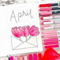15 Cool April Bullet Journal Ideas you have to see! Get inspired with the best April Bullet Journal themes for your cover page. Everything from easter theme to spring! Check them out. Bullet Journal Inspo, December Bullet Journal, Bullet Journal Titles, Bullet Journal Cover Page, Journal Fonts, Filofax, Journal Ideas, Journal Inspiration, Inspired