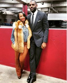 02c99244ca09 LeBron James With Wife Savannah Brinson-James