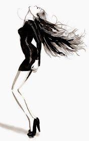 Fashion illustration on Artluxe Designs. #artluxedesigns