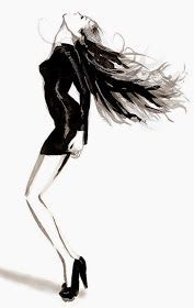 Fashion illustration on Artluxe Designs. #artluxedesigns