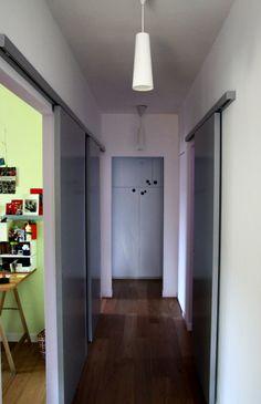 ristrutturazione casa brianza: porta scorrevole esterna; binario in ...