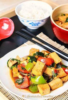 Tofu Vegetable Stir-Fry with Thai Basil @Kelly @ Life made Sweeter
