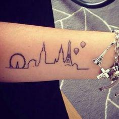 Tatto para amantes da Arquitetura ❤️