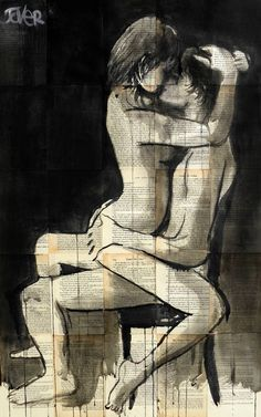 "Saatchi Art Artist Loui Jover; Drawing, ""night lovers..((SOLD))"" #art"