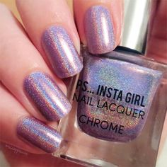 "143 Likes, 2 Comments - ☽ J e s s i (@misscappuccini) on Instagram: ""💅 three coats of Primark PS... insta girl chrome - lilac chrome ❤ #misslackiert…"""