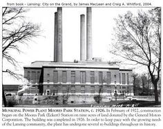https://flic.kr/p/AL33L5 | Municipal Power Plant-Moores Park Station-circa 1926-from 2004 book-Lansing, MI | EPSON MFP image