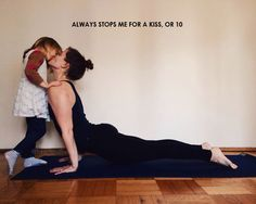 always stops me for a kiss #yoga #yoga #love #om