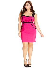Ruby Rox Plus Size Dress, Sleeveless Cutout-Back Bodycon - Plus Size Dresses - Plus Sizes - Macy's