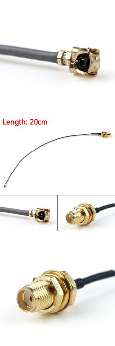 [Visit to Buy] Sale 20cm Cable SMA Female Bulkhead Jack To IPX U.FL PCI Card 1.13mm Pigtail 8in RF High Quality Jackplug Wire Connector #Advertisement