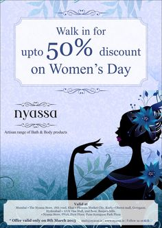 Avail of this exciting offer at #Nyassa for a beautiful looking skin by visiting us at Phoenix Marketcity, Kurla. #WomensDay