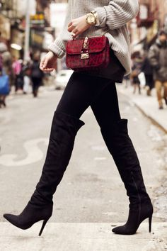 over the knee boots. classic