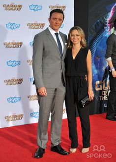 "Peter Serafinowicz & wife Sarah Alexander at the world premiere of his movie ""Guardians of the Galaxy"" at the El Capitan Theatre, Hollywood. July 21, 2014 Los Angeles, CA Picture: Paul Smith / Featureflash"