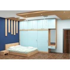 Priscilla Bedroom Set with Laminate Finish Modern Bedroom Furniture Sets, Modern Furniture Stores, Stylish Bedroom, Modern Room, Bedroom Sets, Bedrooms, Bedroom Decor, Wall Decor, Bedroom Cupboard Designs