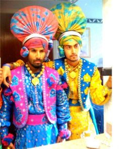 Bhangra outfit. #Punjabi Punjab Culture, Alien Planet, Folk Dance, Punjabi Quotes, Indian Outfits, Dancers, Planets, Medieval, Captain Hat