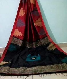 Cotton Silk Temple Saree  Pure Handloom with Blouse pics Free Shipping all INDIA www.midazfashion.com Contact Us On Whatsapp +919007829007 Jamdani Saree, Silk Sarees, Cotton Saree, Cotton Silk, Holi Offer, Cod, Tie Dye Skirt, Pure Products, Fabric