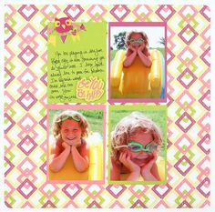 Be You, Be Happy Be Young Girl #Scrapbook Layout Project Idea from Creative Memories  http://www.creativememories.com