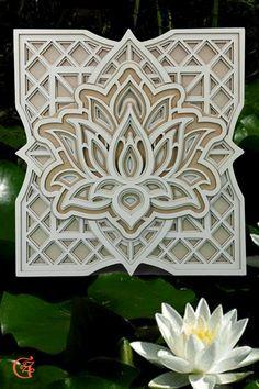 3D Holz Lotusblumen Mandala Graviert Wanddeko Wandbild Holzdekor Laser Cut Wohnzimmer Dekoration Deko Geschenk zum  Geburtstag Hochzeit Muttertag   Weihnachten besondere Anlässe