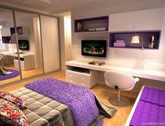 Um quarto clean com toques pequenos