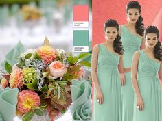 GINGER/MEADOW : PANTONE WEDDING Styleboard : The Dessy Group